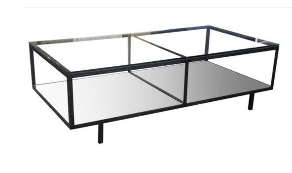 Ambrose Coffee Table, Steel, Glass