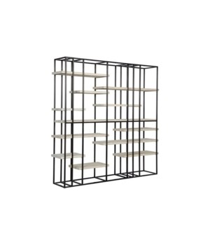 Cedron Bookcase, Large, Grey Wash