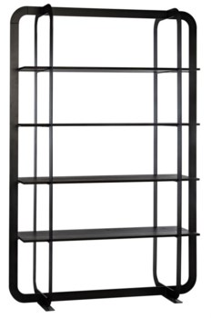 Illusionist Bookcase, Black Wax