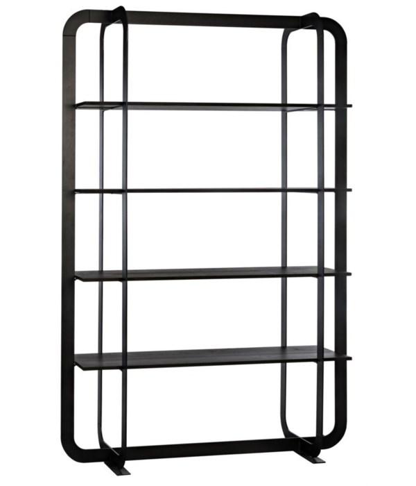 Illusionist Bookcase, Black Wax