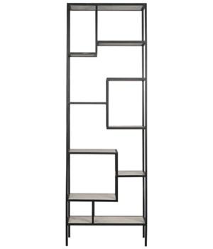 Haru Bookcase, XL, Metal w/ White Stone