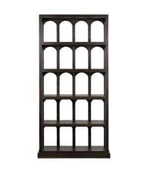 Passage Bookcase, Ebony Walnut