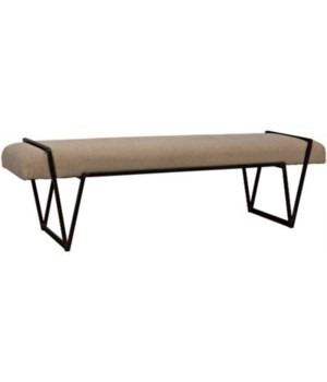 Larkin Bench. Metal with Linen