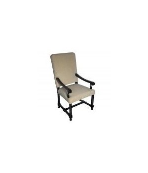 Spanish Arm Chair, Distressed Black