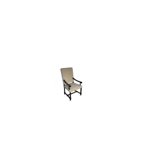 Spanish Arm Chair, Distressed Black