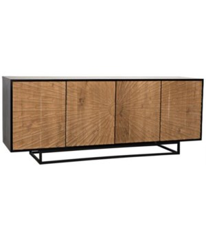 Ra Sideboard, Hand Rubbed Black and Teak