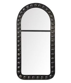 Bosse Mirror, Hand Rubbed Black w Gold