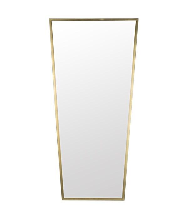 Cassio Mirror, Antique Brass