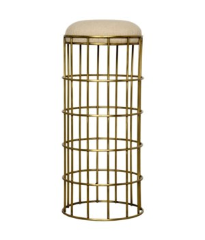 Ryley Barstool, Metal with Gold Finish