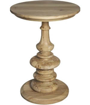 Old Elm Pedestal Side Table, Natural