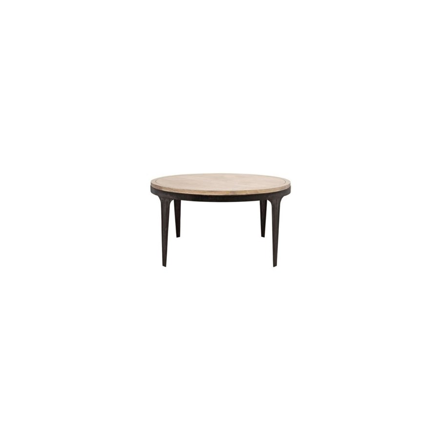 Rodolfo Table, Washed Walnut, Walnut & Metal