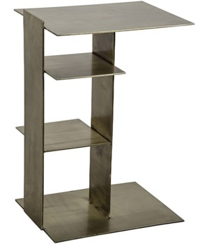 Karri Side Table, Antique Brass