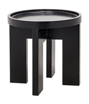 Gavin Side Table, Hand Rubbed Black
