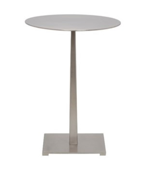 Stiletto Side Table, Antique Silver