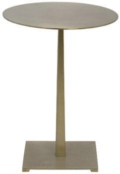Stiletto Side Table, Antique Brass