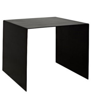 Yves Side Table, Black Metal, Large