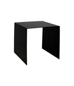 Yves Side Table, Black Metal, Medium