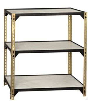 Dario Shelving, Antique Brass