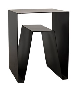 Quintin Side Table, Black Metal
