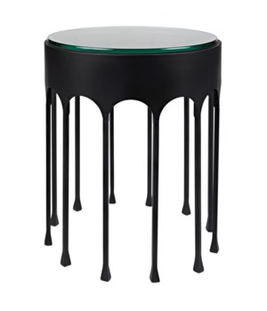 Achille Side Table, Black Metal