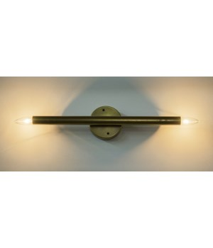 Straight Sconce, Antique Brass