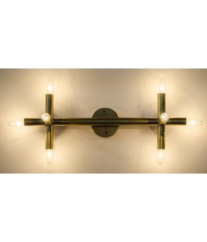Salome Sconce, Metal w/ Brass Finish