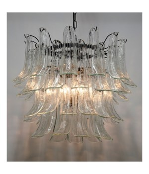 Fiore Chandelier, Black Metal