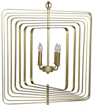 Dimaclema Chandelier, Small, Antique Brass