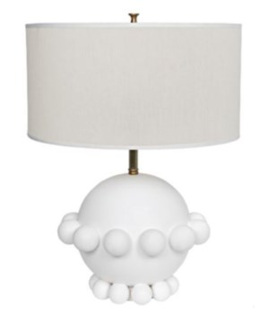 Scepter Lamp with White Shade