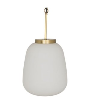 Lora Pendant, Antique Brass