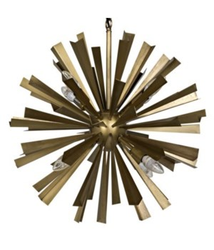 Bero Chandelier, Antique Brass