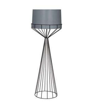 Portal Floor Lamp, B, Black Metal