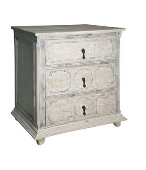Livingston Small Chest, Grey Wash Wax