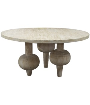 Julie Dining Table, Grey Wash