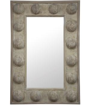 RL Boulder Mirror, Grey Wash
