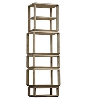Anton Bookcase, Tall, RL, Grey Wash