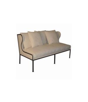 Allende Sofa, Metal Frame, Focus Linen, GR B