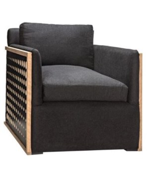 Vance Chair, Birch Veneer, Oak, Liquorice, Gr B