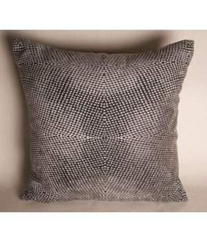 Plain Pillow, Silver Pixels Fabric, 22x22