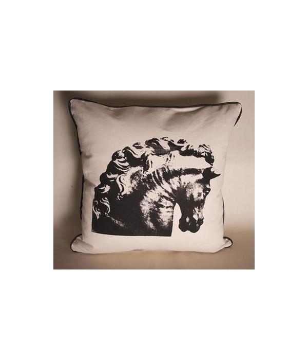 Horse Bust Pillow, 22x22