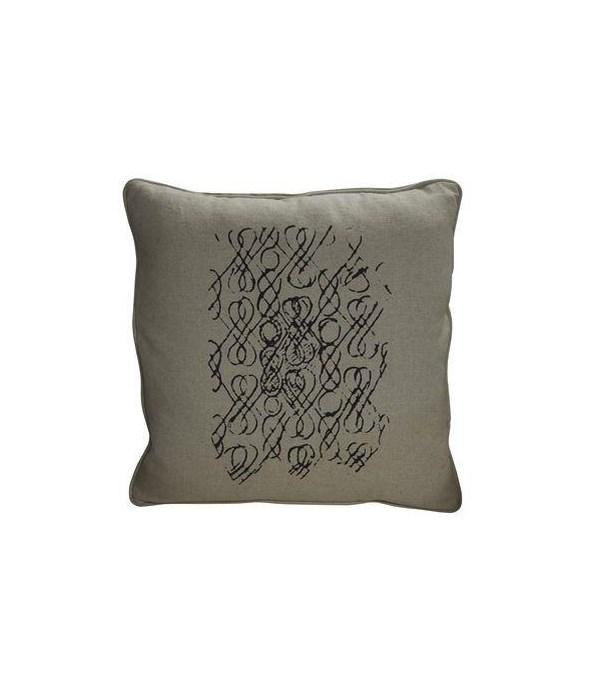 Infinity Pillow, Focus Linen Fabric, 22x22