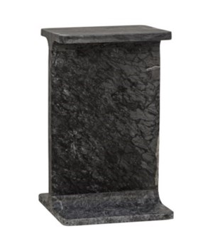 Petros Side Table, Black Marble