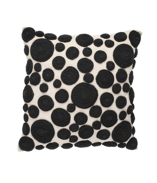 Snail Black Medium Pillow