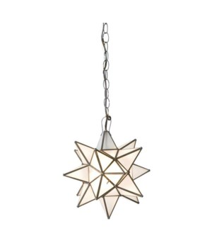 Small Frosted Star Chandelier