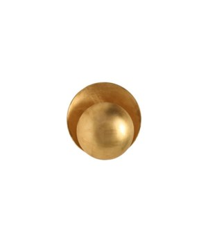 Disc Sconce in Gold Leaf