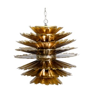 Gold Leaf Iron Chandelier