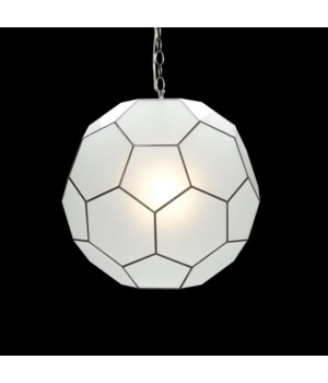 Sm Frosted Glass Knox Pendant