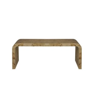 Light Burlwood Waterfall Coffee Table