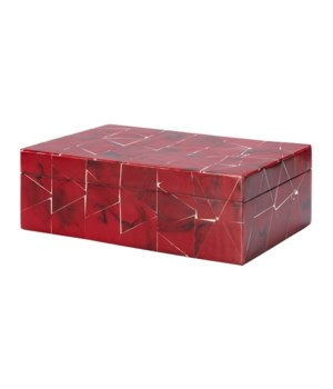 Red Resin Tile Box