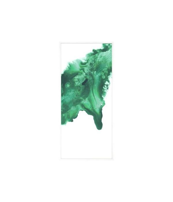 36.5x82.5 Jade Passage II, Glass Framed Custom, Frame 36PUN571